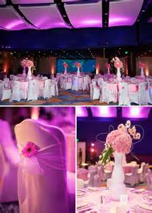 georgia aquarium bat mitzvah pink decor gerbera daisies