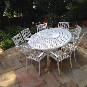 Table Fer Forgé Jardin : salon de jardin blanc grande taille table fer forge victoria ~ Teatrodelosmanantiales.com Idées de Décoration