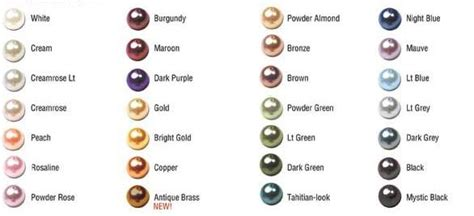 pearl colors an apple s story swarovski pearl color chart