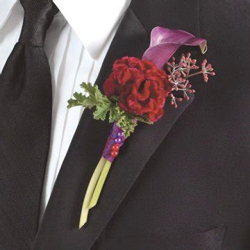 calla lily boutonniere bouts  weddings  proms