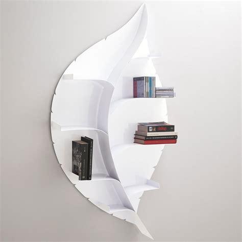 libreria parete foglia libreria a parete design moderno in metallo