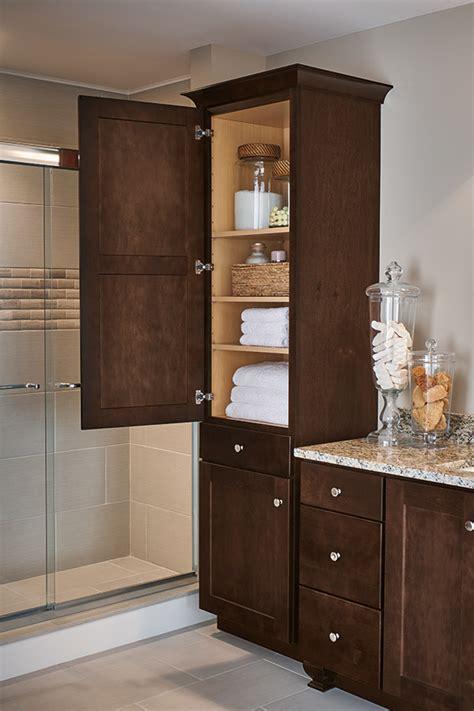 bathroom closet ideas linen closet cabinet aristokraft cabinetry