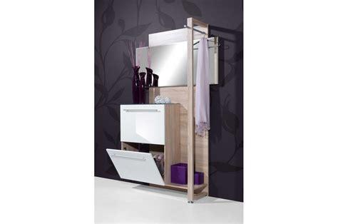 meuble suspendu chambre meuble d 39 entrée 2 portes laquées avec miroir blanc et