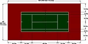 U8 Tennis Courts Diagram
