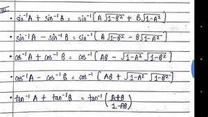 Class 12 Maths Important Formulas