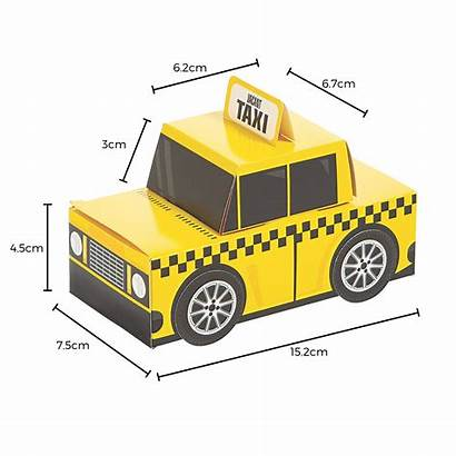 Taxi York Cab Birthday Treat Boxes Pack