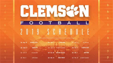 clemson football spring guide schedule clemson