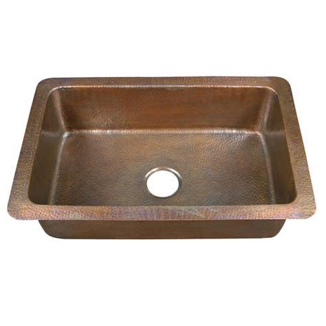 drop in kitchen sinks at menards barclay 32 quot single bowl copper drop in kitchen sink at