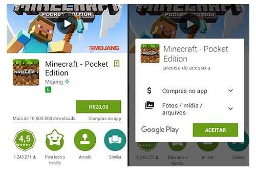 baixar minecraft pocket edition grátis para android