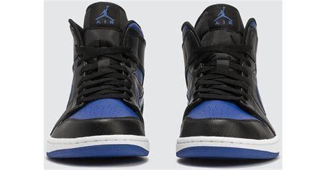 Nike Leather Nike Air Jordan 1 Mid In Black For Men Lyst