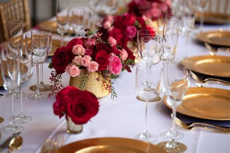 Pink Red And Gold Tabletop Elizabeth Anne Designs The