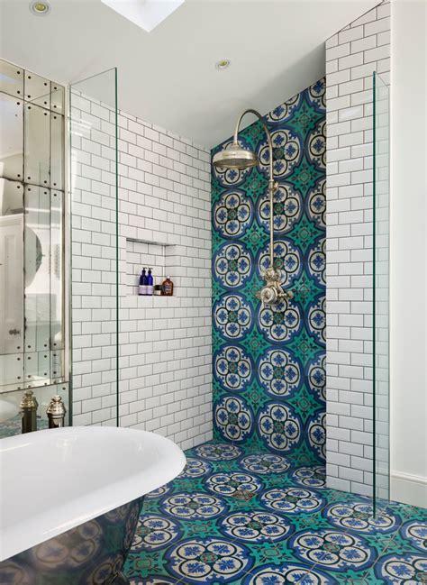 mediterranean tile bathroom bathroom transitional