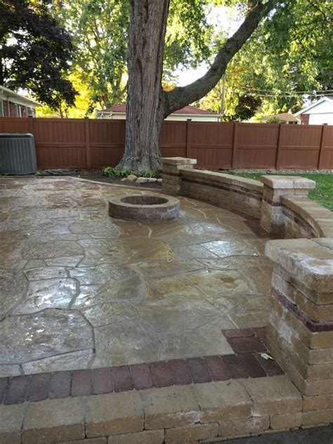 livonia raised flagstone patio