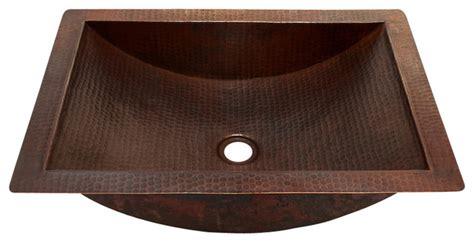 undermount copper kitchen sinks rectangular undermount bathroom copper sink rustic 6578