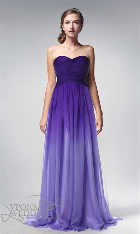 purple bridesmaid dresses strapless length ombre purple prom dresses 2014 dvp0002 vponsale wedding custom dresses