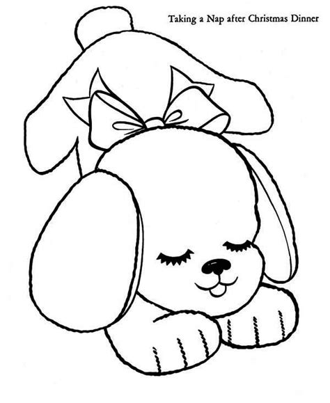 coloring pages   sleeping puppy coloringofcom