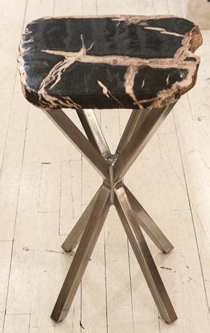 bernhardt petrified wood side table black petrified wood table bernhardt furniture luxe