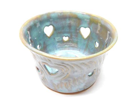 Candle Holder With Holes by Ceramic Orchid Pot With Holes Large Etched Pottery Candle