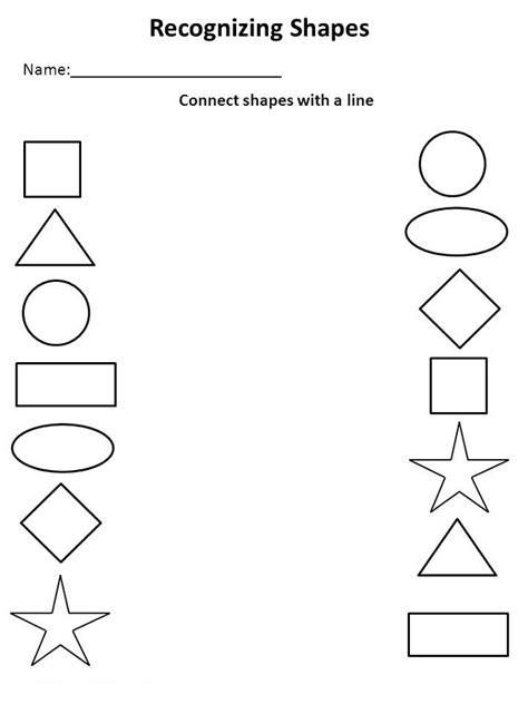 pre k shapes worksheets activity shelter