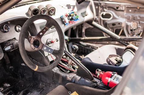 Race Car Cockpit Stock Image. Image Of Dials