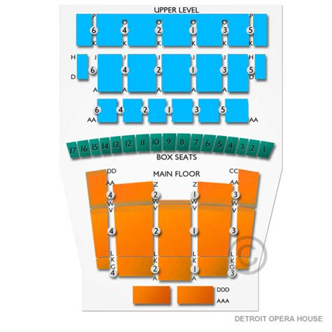 Seats In The House by Detroit Opera House Tickets Detroit Opera House Seating