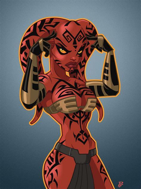 Star Wars Darth Maul Wallpaper Darth Talon Color Version By Patrickfinch On Deviantart