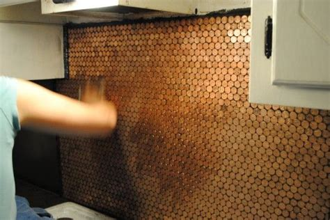 Copper Penny Backsplash Diy : 17 Best Images About Penny Backsplash On Pinterest