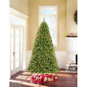 holiday time pre lit 7 5 kennedy fir artificial christmas tree clear lights walmart com