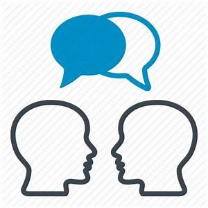 Bubble, conversation, heads, messages, people, speech ...