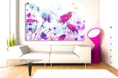 deco chambre adulte bleu tableau romantique décoration murale fleur izoa