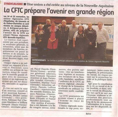 calcul repartition sieges elections professionnelles création de l union régionale cftc nouvelle aquitaine