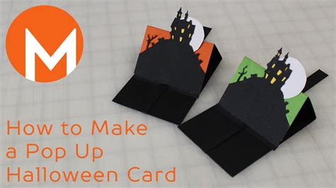 How To Make A Halloween Pop Up Card Youtube