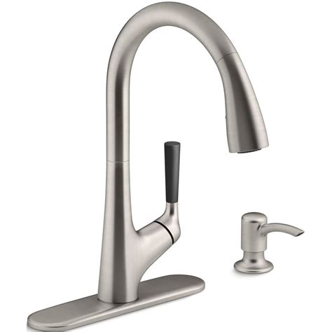 kitchen faucets canada kohler co malleco vibrant stainless steel one handle