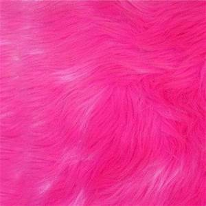 Shaggy Faux Fur Hot Neon Pink 1 Yard $25 00 via Etsy