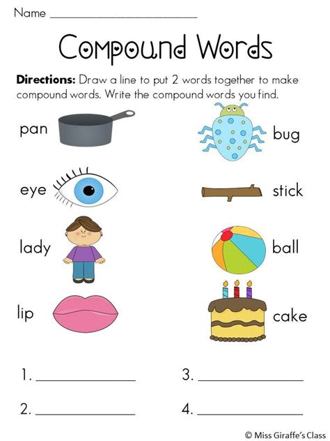 compound words worksheets and activities mega pack