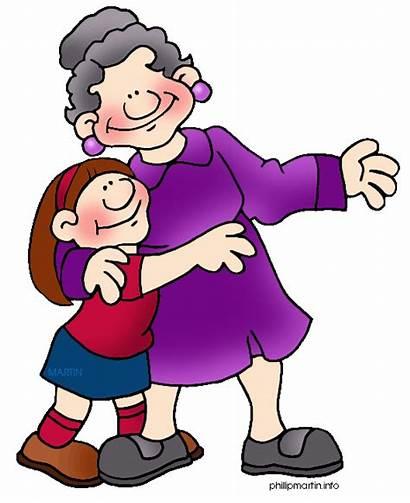 Grandmother Clip Clipart Grandma Clipartpanda Children Grandchildren
