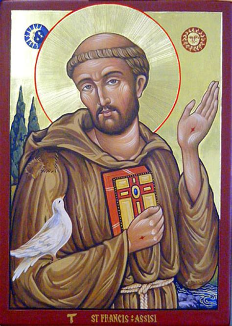 st francis of assisi icon st francis pictures order of franciscan hermits