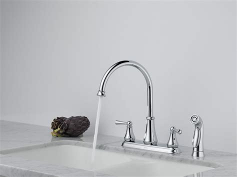delta lewiston kitchen faucet 21902lf faucet 21902lf ss in brilliance stainless by delta
