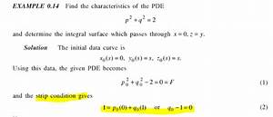 Characteristics - How To Determine Strip Condition Of Nonlinear Pde