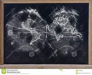 Tableau Du Monde : carte du monde dans le tableau noir image stock image 21496893 ~ Teatrodelosmanantiales.com Idées de Décoration