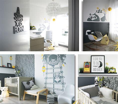 chambre bébé panda stickers panda pour chambre enfants e glue
