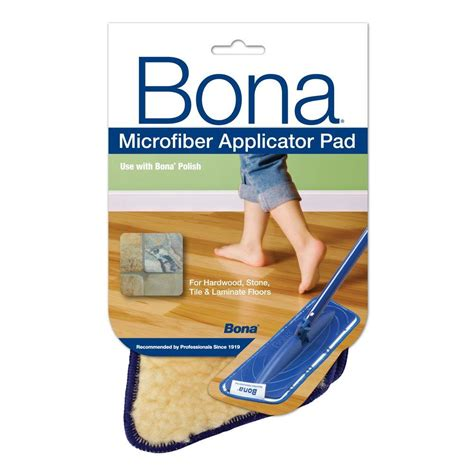 Bona Microfiber Floor Mop Assembly by Bona Microfiber Applicator Pad At0002424 The Home Depot