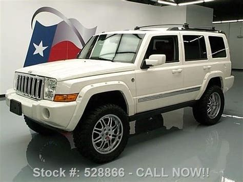 jeep commander silver lifted find used 2009 jeep commander ltd hemi 4x4 lifted sunroof