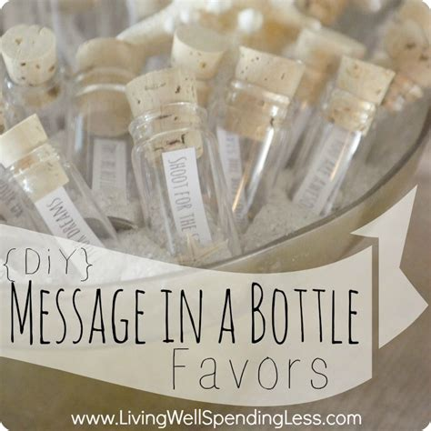 diy message in a bottle party favors living well