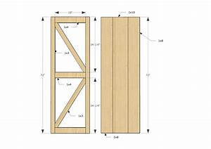 Barn door plans white sliding door cabinet for tv diy for Barn door blueprints