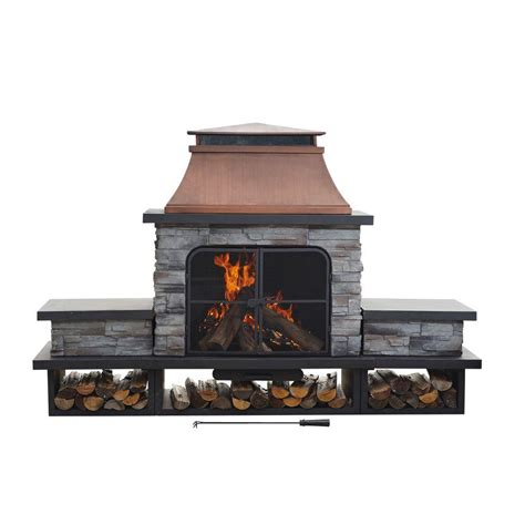 commercial style kitchen faucets sunjoy seneca 51 in wood burning outdoor fireplace l