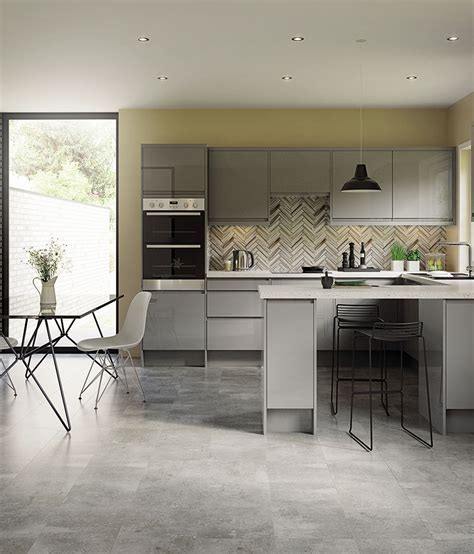 Light Grey Slab   Kitchen Units & Cabinets   Magnet Kitchens