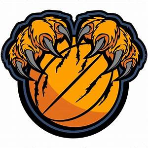 Tiger Claws Basketball - Vector Clipart Tiger Claws