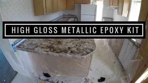 Metallic Countertop by Countertop Resurfacing With Leggari Products Metallic