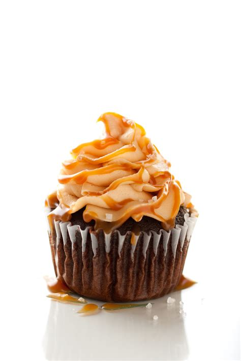 cuisine cupcake chocolate cupcakes with salted caramel frosting cooking